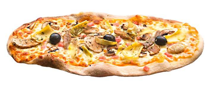 Pizza 4 estacions ovalada