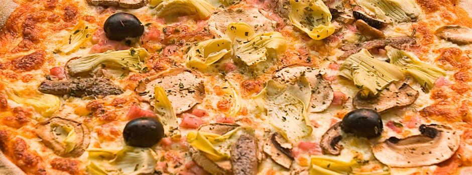 Pizza artesanal al forn de llenya