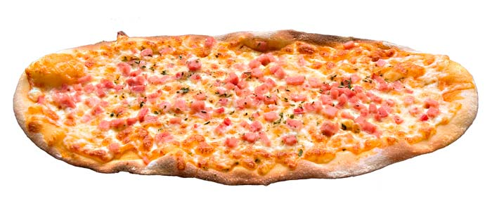 Pizza reina ovalada