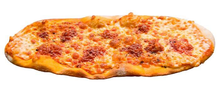 Pizza sobrassada ovalada