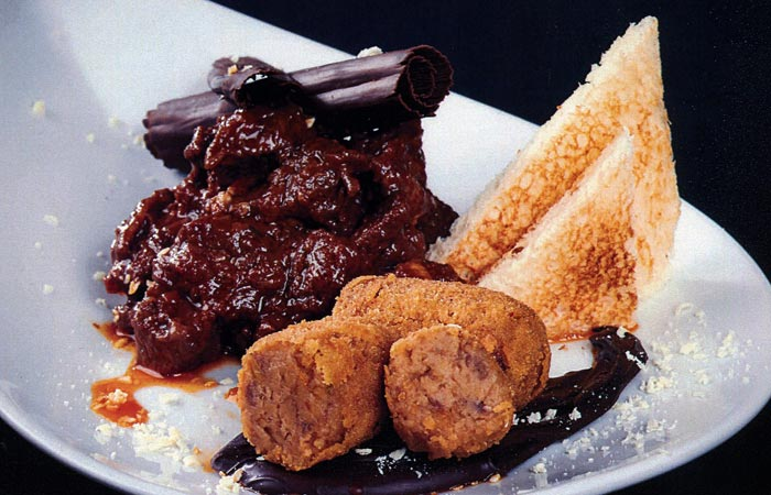 Croquetes de estofat amb xocolata